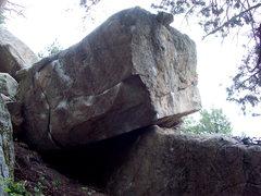 Rock Climbing Photo: Bachar's Block, Boulder Canyon, Colorado.