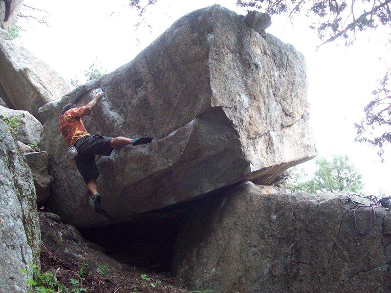 Rock Climbing Photo: BH on FA of Bachar Ladder, Bachar's Block, Boulder...