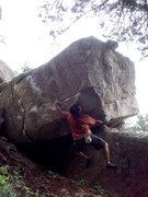 Rock Climbing Photo: Use the knee jam.
