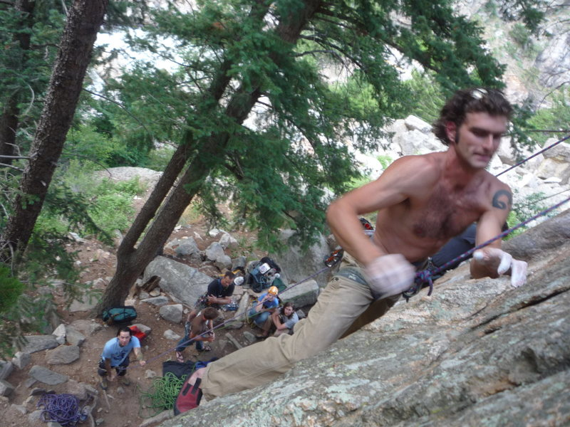 Rock Climbing Photo: peanut gallery