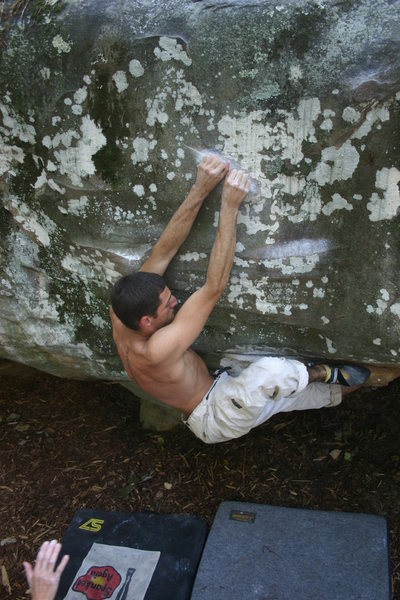 Steve Sallemi, working past the crux. The Thief