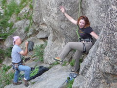 Rock Climbing Photo: Lee and Leah goofing off
