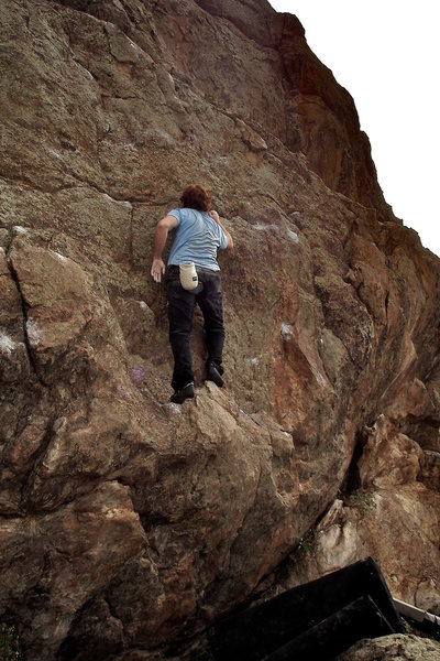 "Luke Childers climbing ""General Coloring."""