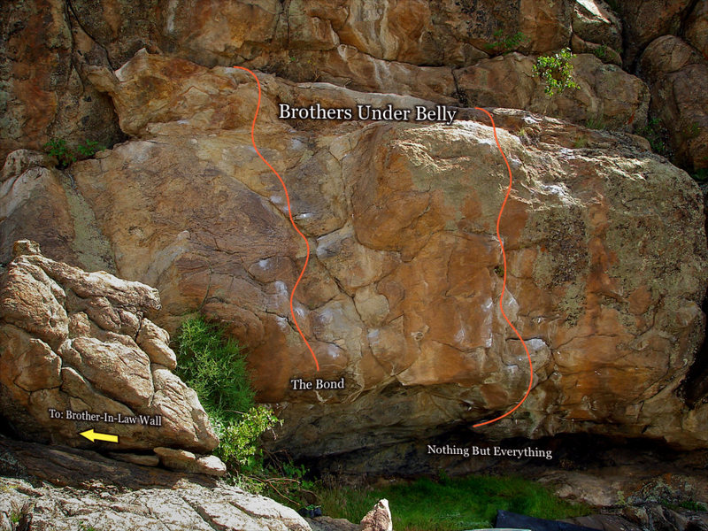 "Rock Climbing Photo: Photo beta for the ""Brothers Under Belly Cave..."