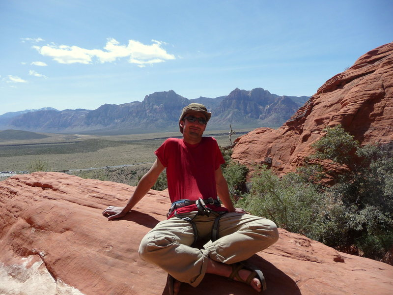 Rock Climbing Photo: Me, at Red Rock Canyon