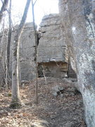Rock Climbing Photo: the large overhang towards the back of the area. t...
