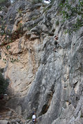 Rock Climbing Photo: Chris at the crux.