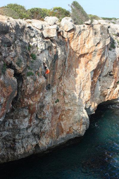 Rock Climbing Photo: ~ 5.8/9 route