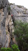 Rock Climbing Photo: Further up the route.