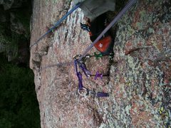 Rock Climbing Photo: my freak out moment.  Looked down and realized I h...
