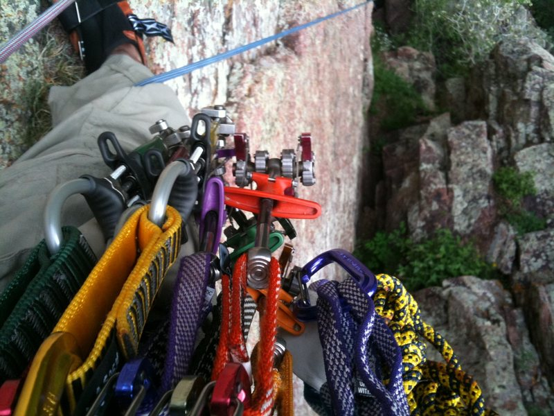 Rock Climbing Photo: Confidence is looking down and seeing OP link cams...
