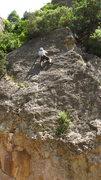 Rock Climbing Photo: Further up