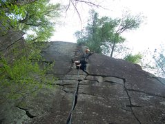 Rock Climbing Photo: leading lost ego 5.8 talor falls wisconsion