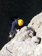 Rock Climbing Photo: zac seconding the first pitch of the conn route on...