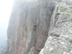 Rock Climbing Photo: Getting into the phantom crack palisade head MN
