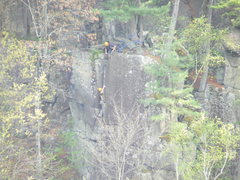 Rock Climbing Photo: belaying zac up lost ego talor falls