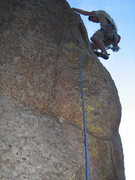Rock Climbing Photo: Happy to be yarding on a jug after Red's thin star...