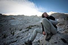 Rock Climbing Photo: Caroline Schaumann after approach to Lone Pine Pea...
