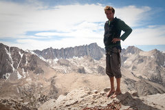 Rock Climbing Photo: submitting to the summit of Lone Pine Peak