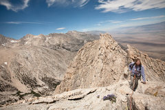 Rock Climbing Photo: Lone Pine Peak, North Ridge