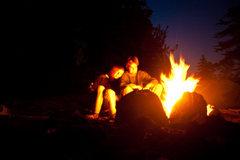 Rock Climbing Photo: fire (legal)