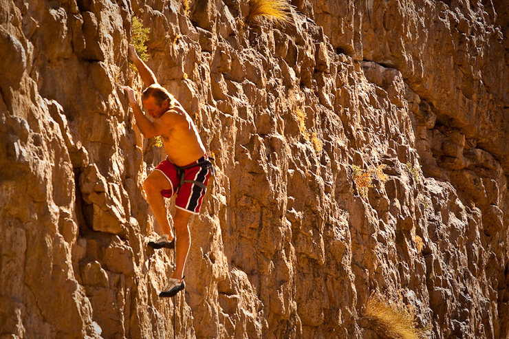 Rock Climbing Photo: The late John Bachar in the Gorge. Rest in peace.