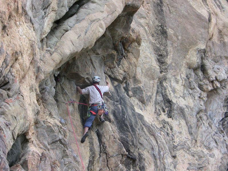 Rock Climbing Photo: Bustin' the crux moves.