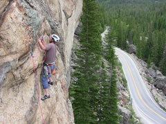 Rock Climbing Photo: Clipping bolt 2, Carl P.