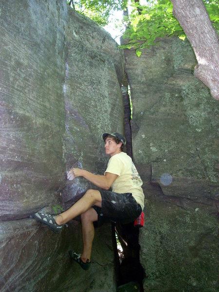 Rock Climbing Photo: Skinny, pullin'.