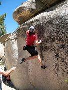 Rock Climbing Photo: Don's Dyno #3 (V4), Tramway