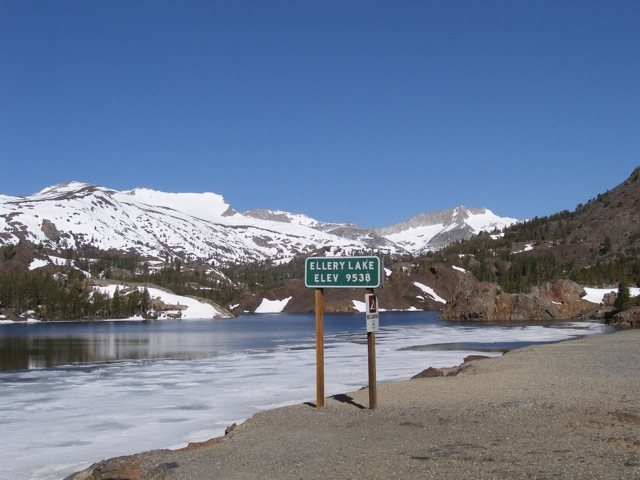 Ice on Ellery Lake, around Memorial day, 2009