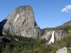 Rock Climbing Photo: Nevada Falls and Liberty Cap