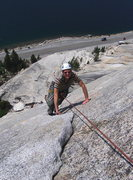 Rock Climbing Photo: Hal on pitch 1 of Dixie Peach