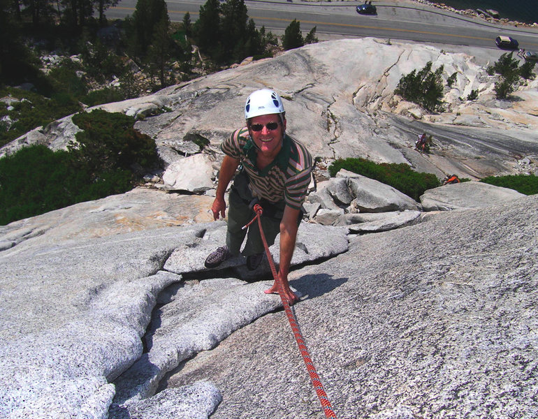 Rock Climbing Photo: South Crack and Dixie Peach diverge on this small ...