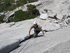 Rock Climbing Photo: Starting up the corner of Dixie Peach