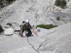 Rock Climbing Photo: Pitch 1, Dixie Peach