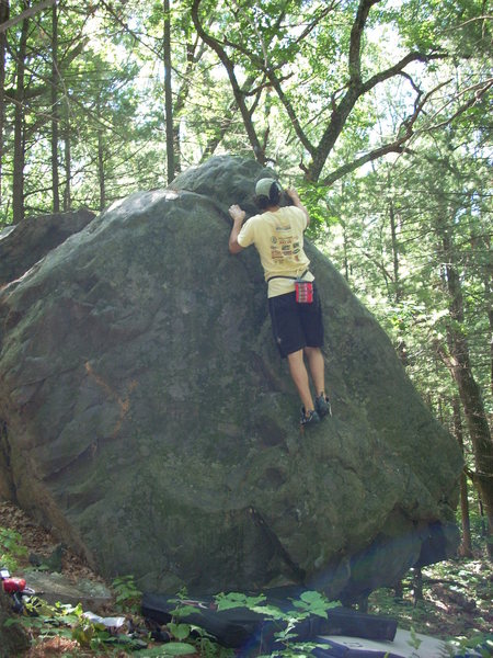 Rock Climbing Photo: Skinny, warming up.