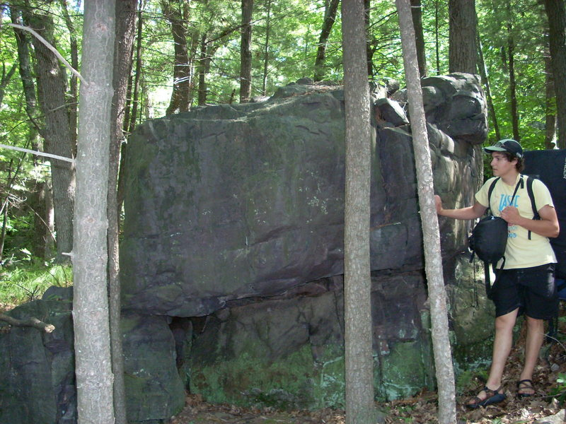 Rock Climbing Photo: First boulder you will see at Steinke Wall IF trav...