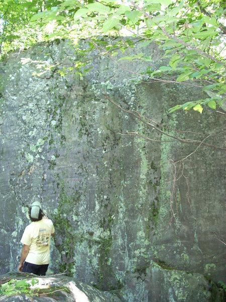 Dirty wall on the east side of Steinke Wall, Main Wall.