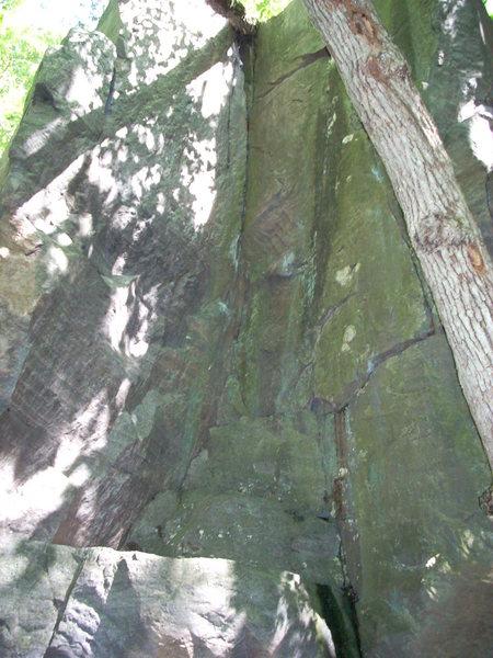 Rock Climbing Photo: Inside corner is 5.8. Starts on top of triangular ...