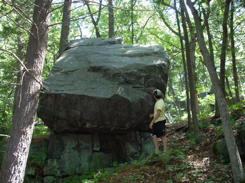 Rock Climbing Photo: Steinke Wall Boulder. This pic is taken facing the...