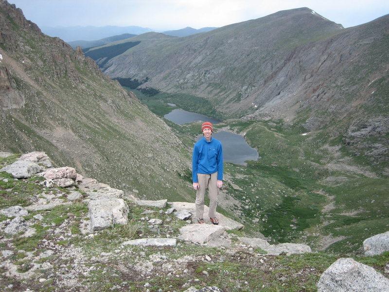 Rock Climbing Photo: The Black Wall rim Mt. Evans, CO.