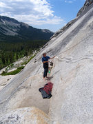 Rock Climbing Photo: Belay ledge at Bunny Slopes below wild in the Stre...