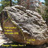 Photo/topo for Ranger Station Rock 3, Tramway. <br>