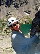 Rock Climbing Photo: Yours truly on the Petite Grepon