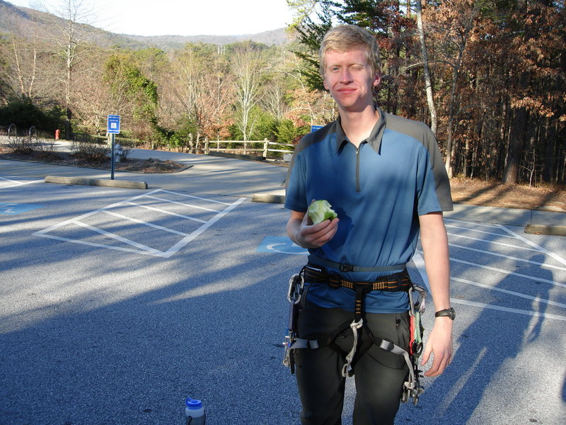 Rock Climbing Photo: Snackin' in the parking lot of Tallulah Gorge, GA