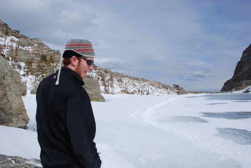 Me suffering through the Colorado winter.