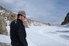 Rock Climbing Photo: Me suffering through the Colorado winter.