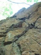 Rock Climbing Photo: Rope-burn (5.10) on the right, Powersurge (5.9) on...