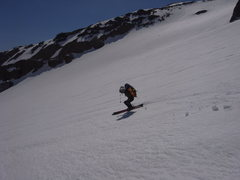 Enjoying the corn on the Inter Glacier after carrying over Liberty Ridge (5-24-09).